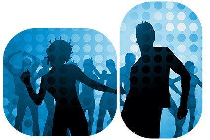 disco-dancing-figures-in-silhouette-vector-material-24119