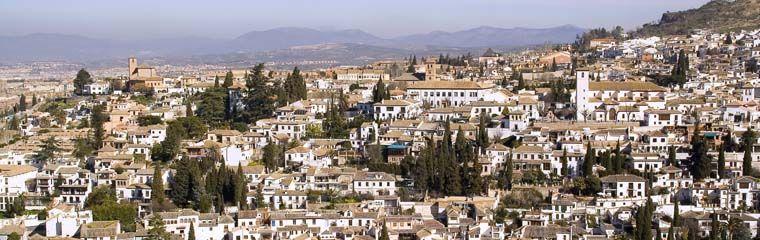 Barrio del Albaicín. Vista general desde la Alhambra. (Granada)