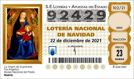 Lotería Navidad Mírame
